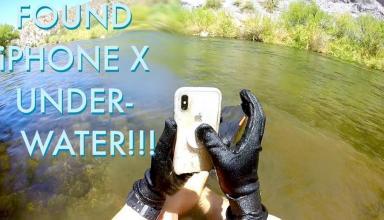 iPhone X выжил после двух недель на дне реки (видео)