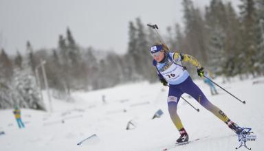 14-летняя спортсменка выиграла два золота по биатлону