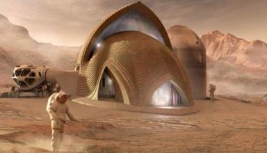 NASA показало проекты домов для будущей колонии на Марсе (видео)