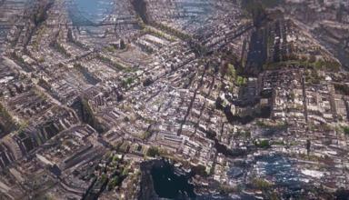 Художник создал фантастический бесконечный город: опубликовано видео