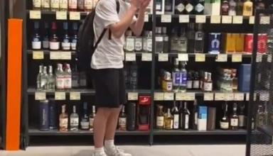 В Киеве тиктокер хотел снять видео и разбил в магазине бутылку виски за 7,5 тыс. долларов