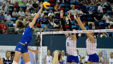 Сборная Украины в матче-открытии волейбольного Евро-2017 проиграла России