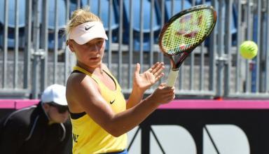 15-летняя Марта Костюк выиграла первый матч за сборную Украины