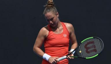 Катерина Бондаренко проиграла в первом круге турнира в Брисбене