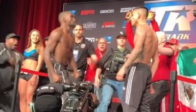Лучший боксер мира попытался ударить соперника на взвешивании