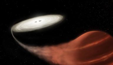В космосе обнаружили звезду-