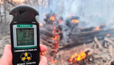 За все время пожаров в зоне отчуждения радиационный фон не превышал нормы - гидрометеоролог
