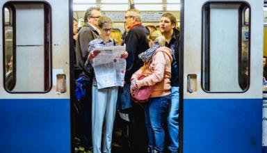 В I полугодии транспортом пользовались на 2% меньше пассажиров