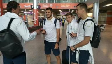 Сборная Украины прибыла во Львов, где проведет второй матч Лиги Наций