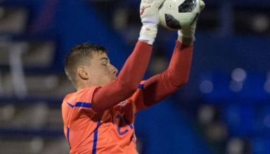 Андрей Лунин стал самым молодым вратарем в истории сборной Украины