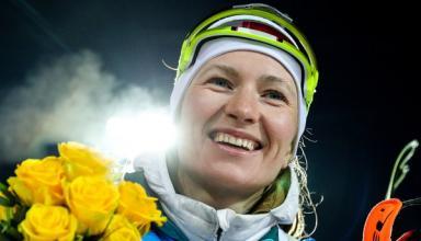 Знаменитая биатлонистка Дарья Домрачева завершила карьеру из-за ребенка