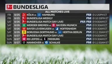Чемпионат Германии: расписание и результаты 2-го тура, таблица Бундеслиги